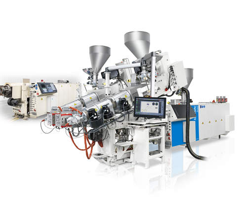 Boosting performance for you: KraussMaffei Berstorff coextrusion combination for profile production in twin strand